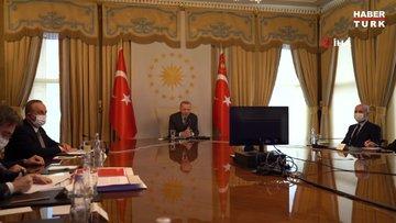 Cumhurbaşkanı Erdoğan, Avrupa Komisyonu Başkanı Ursula von der Leyen ve Avrupa Konseyi Başkanı Charles Michel ile görüştü