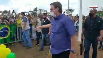 Bolsonaro yine salgını unuttu, doğum gününü kutladı!