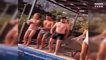 Villada kaçak havuz partisine jandarma baskını