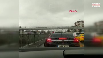 İstanbul'da dolu etkili oldu