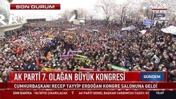 Son dakika! Erdoğan kongre salonunun önünde bekleyenlere hitap ediyor
