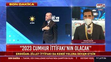 Son dakika haberi! Cumhurbaşkanı Erdoğan'dan teşekkür konuşması