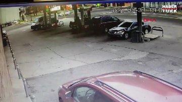 ABD'de itfaiye aracının dehşet saçtığı anlar kamerada