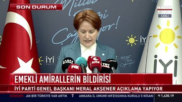 İyi Parti Genel Başkanı Meral Akşener açıklama yaptı