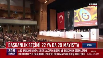 Galatasaray'da başkanlık seçimi 22  ya da 29 Mayıs'ta