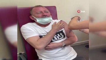 Sergen Yalçın koronavirüs aşısı oldu! İzleyenleri güldürdü