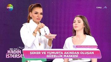Ebru Akel'den güzellik maskesi tarifi!