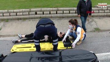 Ataşehir'de yan yola girmeye çalışan araç zincirleme kazaya neden oldu