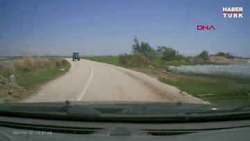 Traktörle çarpışan otomobilin sürücüsü: Pusuya düşürülüğ, darbedildim