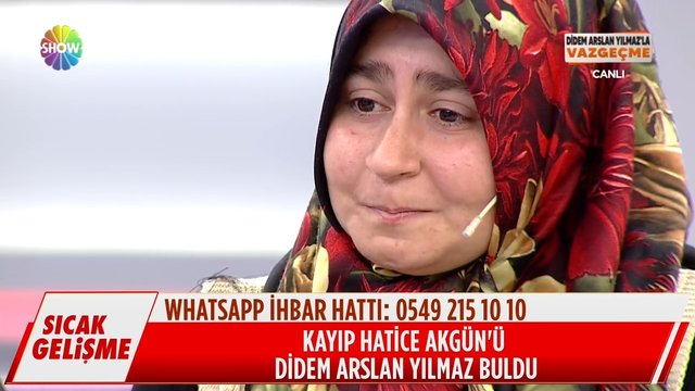 Kayıp Hatice Akgün'ü Didem Arslan Yılmaz buldu!