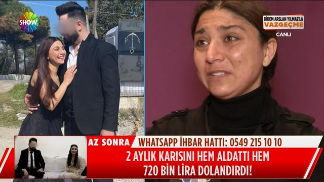 2 aylık kocası 720 bin lira dolandırdı!