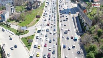 82 saatlik kısıtlama öncesi trafik yoğunluğu yüzde 71