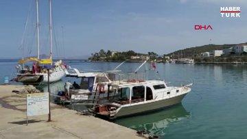 Datça'da yasağa rağmen denize girenlere ceza kesildi