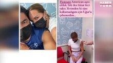 Ebru Şallı aşı oldu