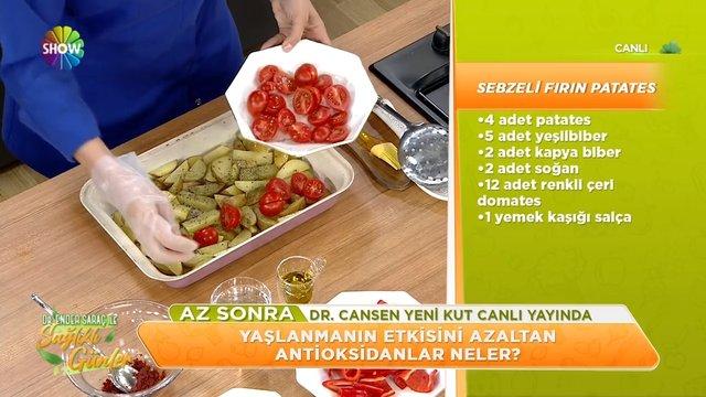 Sebzeli fırın patates