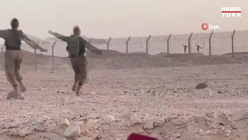İsrail-Mısır sınırında askerlerden karşılıklı dans