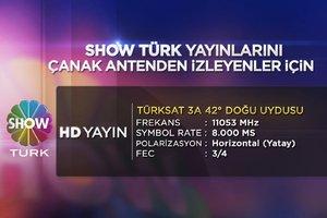 ShowTürk HD yayın frekansı
