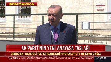 Cumhurbaşkanı Erdoğan'dan aşıda fikri mülkiyet ve yeni anayasa mesajı