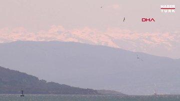 Hava temizlendi, Uludağ İstanbul'dan görüntülendi