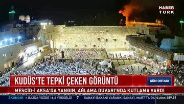 Mescid-i Aksa'dan alevler yükselirken Yahudiler Kudüs Günü'nü kutladı!