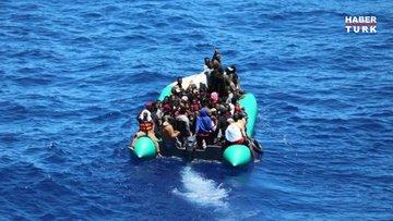 MSB'den açıklama  Khoms Limanı açıklarında 97 göçmen kurtarıldı