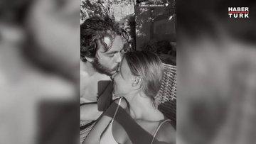 İsmail Ege Şaşmaz'dan Hande Ünal'a aşk öpücüğü