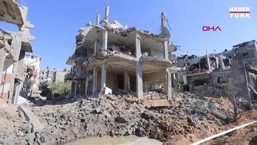 İsrail Gazze'yi bombaladı: Enkaz böyle görüntülendi!