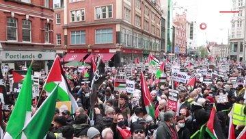 Londra'da İsrail karşı protesto