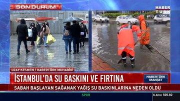 İstanbul ve İzmir'de fırtına
