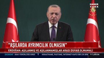 Cumhurbaşkanı Erdoğan'dan 'aşı' mesajı