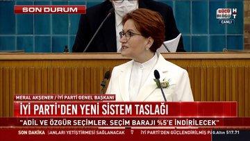 İYİ Parti lideri Akşener güçlendirilmiş parlamenter sistem önerisini açıkladı