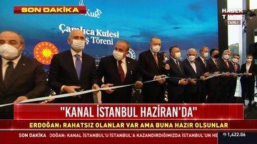 İstanbul'un fethinin 568'inci yılında Çamlıca Kulesi'nin açılışında Cumhurbaşkanı Erdoğan'dan önemli açıklamalar...