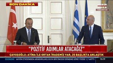Atina'da kritik görüşme: Dışişleri Bakanı Mevlüt Çavuşoğlu'ndan açıklamalar!