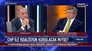 Ahmet Davutoğlu Teke Tek'te Fatih Altaylı'nın sorularını yanıtlıyor | Teke Tek - 31 Mayıs 2021