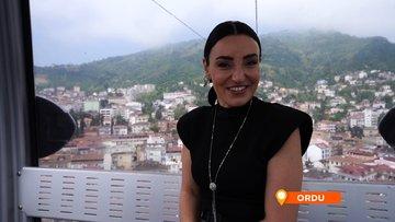 Sevcan Orhan'ın teleferik gezisi