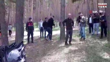 Dünya Çevre Günü'nde ormanı elleriyle temizlediler