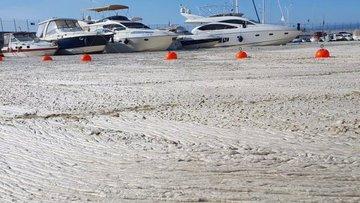 Diş hekiminin tekneden çektiği görüntülere Marmara'daki müsilaj yoğunluğu yansıdı