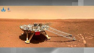 Çin'in Mars gezgin aracından Dünya'ya fotoğraf!