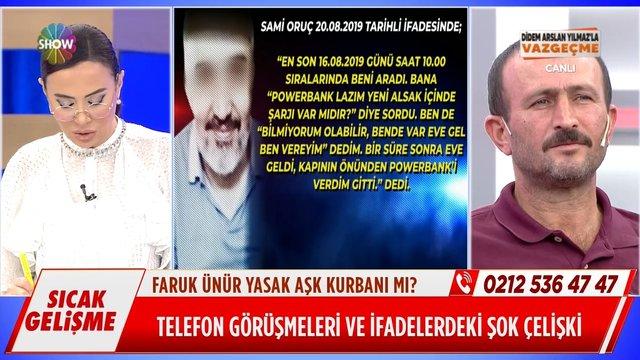 Sami Oruç'un ifadesindeki çelişkiler neler?
