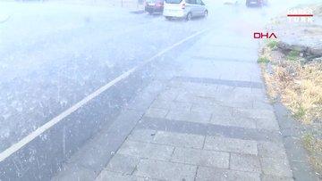 İstanbul'da yağmur ve dolu