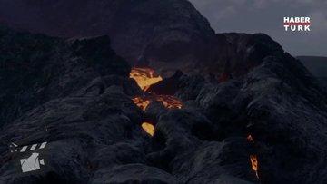İzlanda'da yanardağ patlaması: Büyüleyici görüntü!