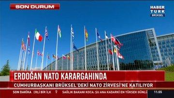 Cumhurbaşkanı Erdoğan NATO Karargahı'nda