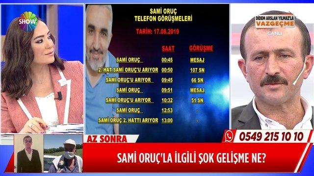 Sami Oruç'un HTS kayıtlarındaki ilginç nokta ne?