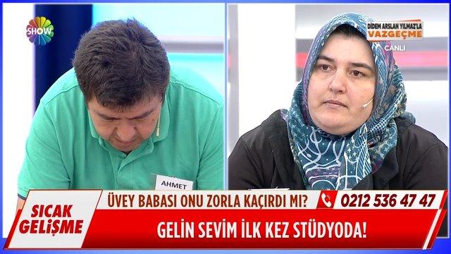 Gelin Sevim Hanım stüdyoya geldi, Ahmet Bey stüdyoyu terk etti!