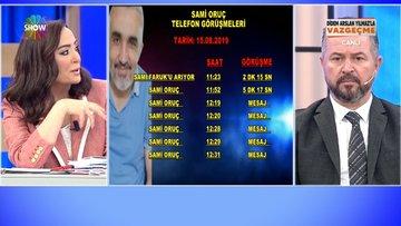 Sami Oruç'un HTS kayıtları!