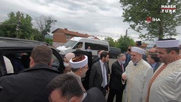 Diyanet İşleri Başkanı Erbaş'tan Kırcaali'de camiye ziyaret