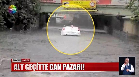 İstanbul'da sağanak hayatı felç etti!