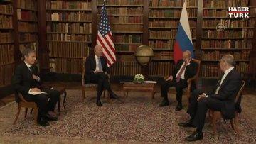 ABD Başkanı Biden ile Rusya Devlet Başkanı Putin arasındaki zirve Cenevre'de başladı