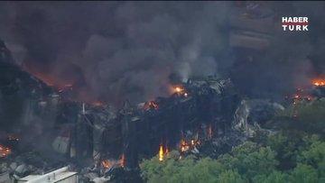 ABD'de kimyasal üretim yapan fabrikadaki yangın söndürülemiyor!