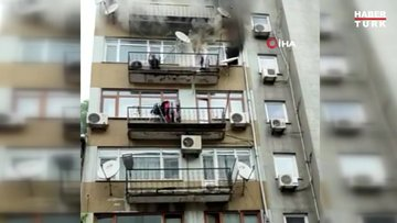 Fatih'te 5 katlı apartmanda yangın paniği...